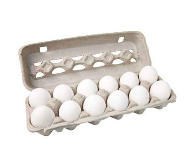Ovos Brancos Médios Embalados (Dúzia)